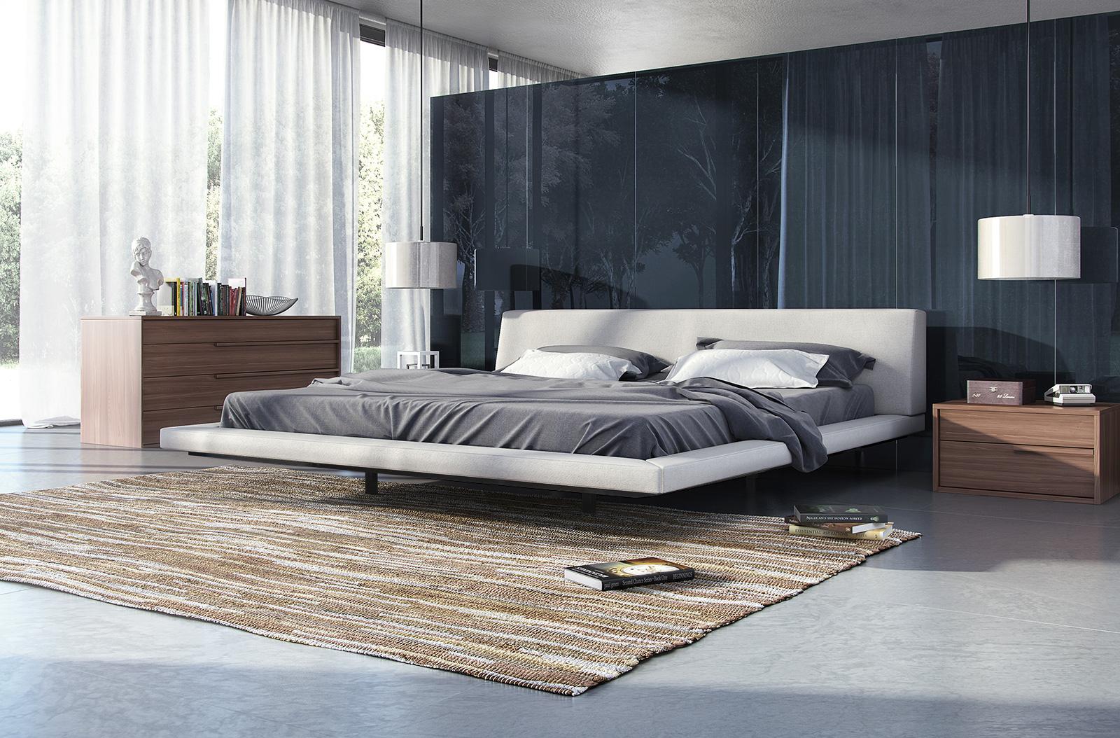 Fashionable Wood High End Platform Bed Fresno California Mljan