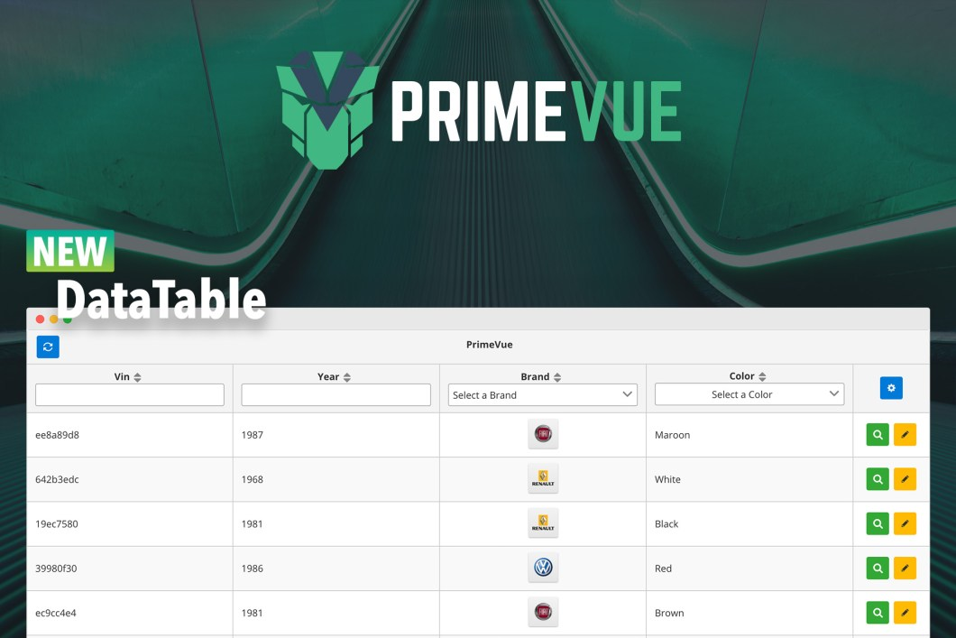 PrimeVue 1 0 0-beta 4 Brings the DataTable | PrimeFaces