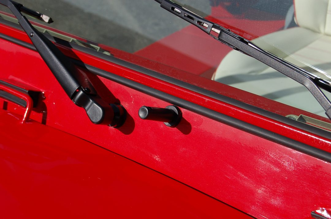 Red Moke Windshield and wipers