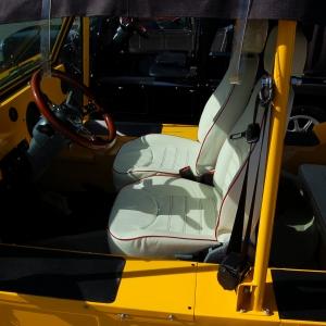 Yellow Moke with Enclosure and custom seats