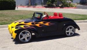 custom Black 39 orange flame