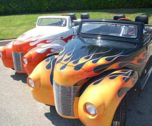 39 Roadster Flames