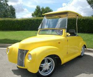 39 Roadster Yellow with Roof