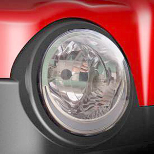 headlight on a revolution golf car