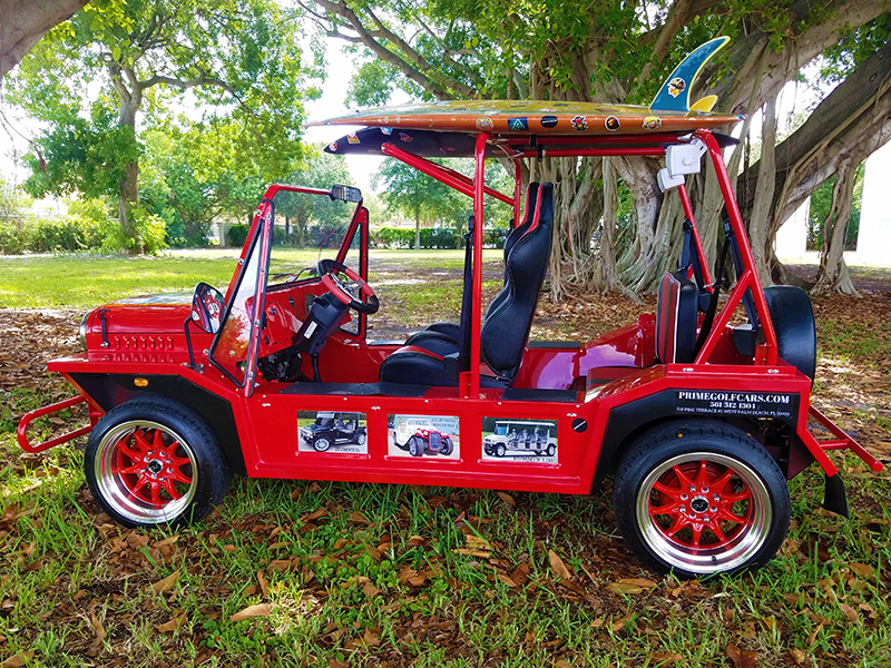 red moke golf car beach edition
