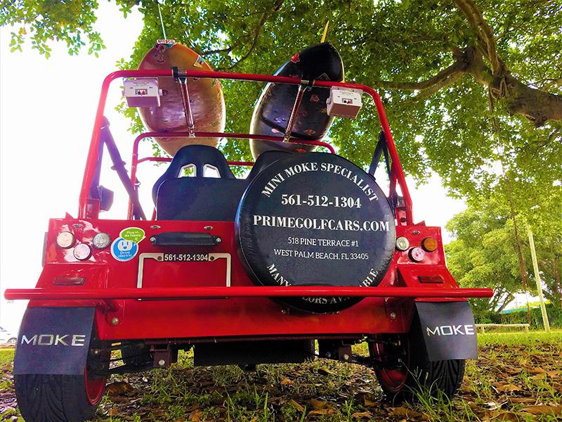 moke custom golf car rear view