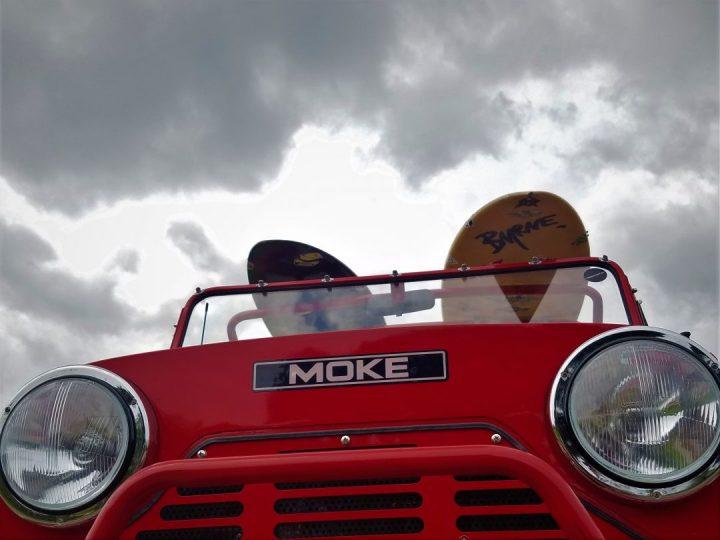 headlights on a moke golf car