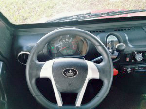 revolution golf car steering wheel