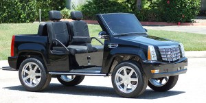 escalade golf car, escalade golf cart, cadillac escalade golf cart