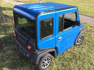 revolution golf car in blue