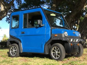 blue revolution golf car