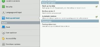 How To Use Backup And Reset On Samsung Galaxy Tab 2