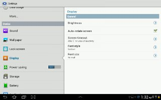How To Use Display Settings On Samsung Galaxy Tab 2