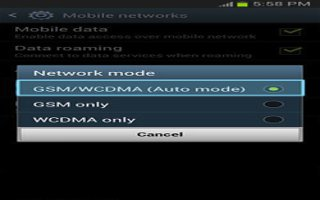 How To Use Network Mode On Samsung Galaxy Note 2