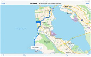 How To Use Maps - iPad Air