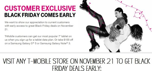 T-Mobile Black Firday Deals On Galaxy Note 4, S5, iPhone 6, LG G3, Xperia Z3, iPad Air, Note 10.1, Note 3