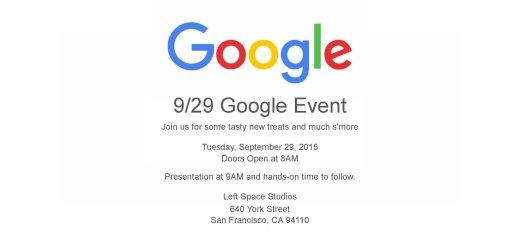 Google - September 29 Event Invite