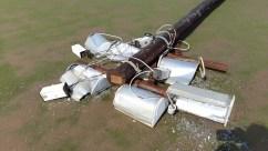 La fuerte tormenta provocó daños en el CePARD