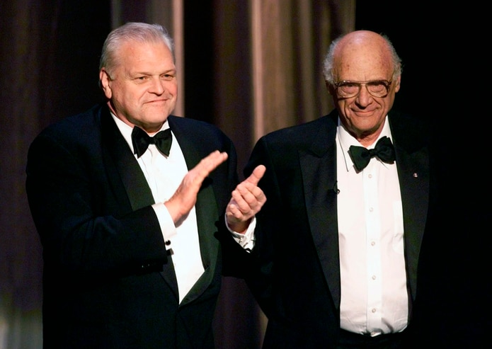 Brian Dennehy (left with playwright Arthur Miller) was a prolific stage, film and television actor.