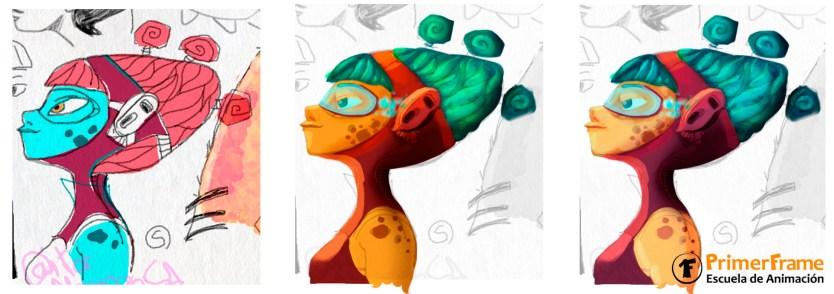diseño de personajes 3d