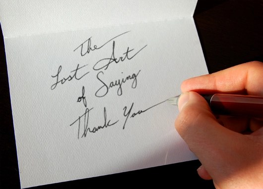 The Importance Of Writing A Thank You Note
