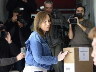 Votó María Eugenia Vidal