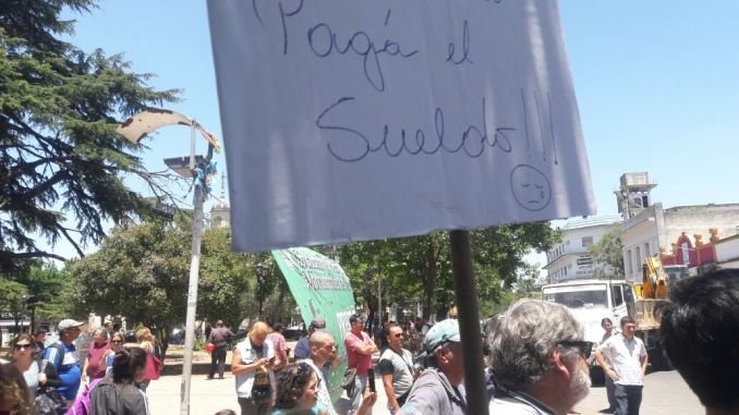Protesta en Moreno