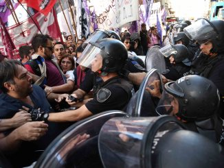 Protesta de los despedidos del Posadas