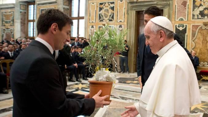 Messi y Papa Francisco