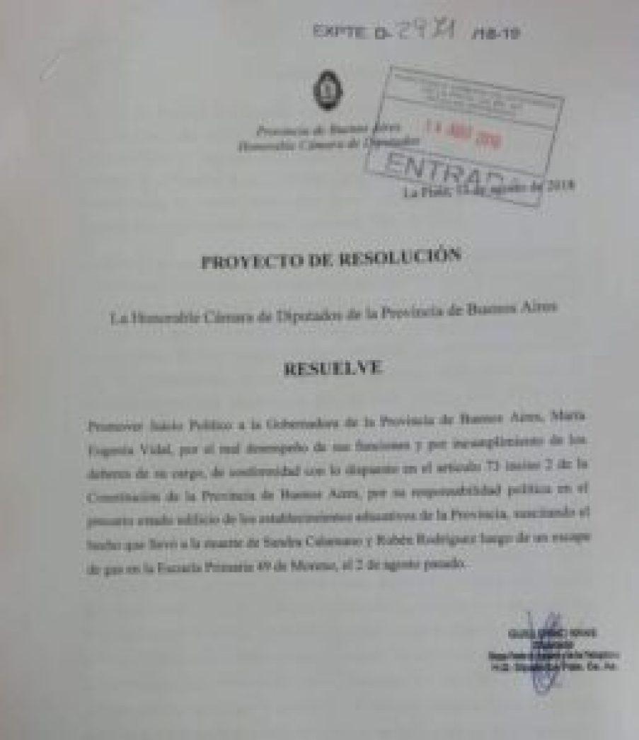Juicio político a Vidal