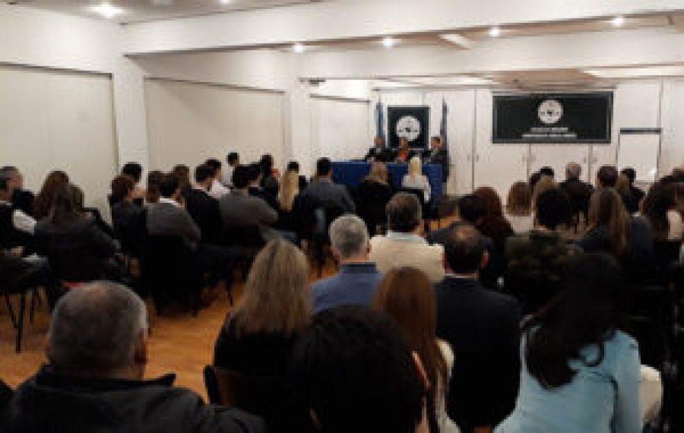 Los matriculados del oeste se acercaron al CAM para escuchar las propuestas de Sánchez Herrero para la elección del viernes 5.