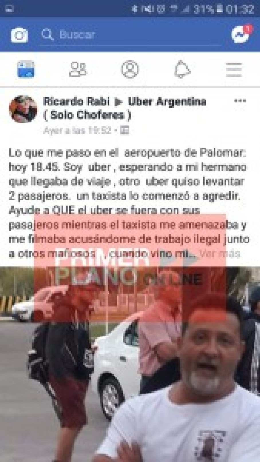 Chat taxistas vs. Uber