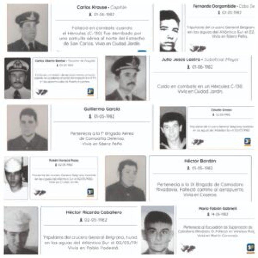 Uno por uno, los héroes homenajeados en el Metrobus de Tres de Febrero