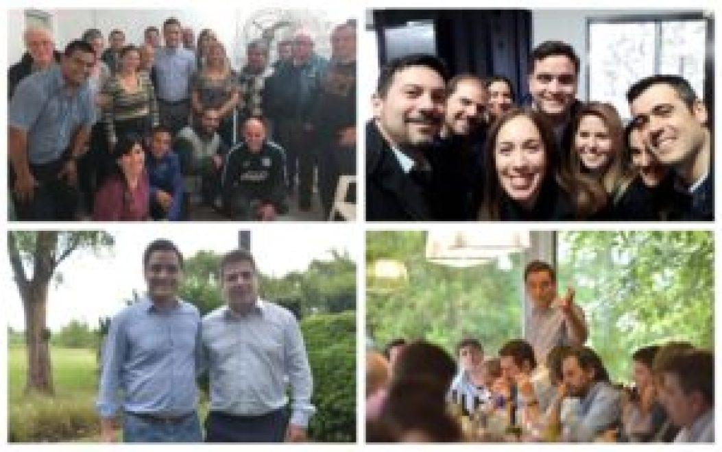 Parte de su universo: los militantes; la gobernadora Vidal; su conductor político, Cristian Ritondo y hasta sus competidores directos de Cambiemos, Pozzuto y Di Castelnuovo