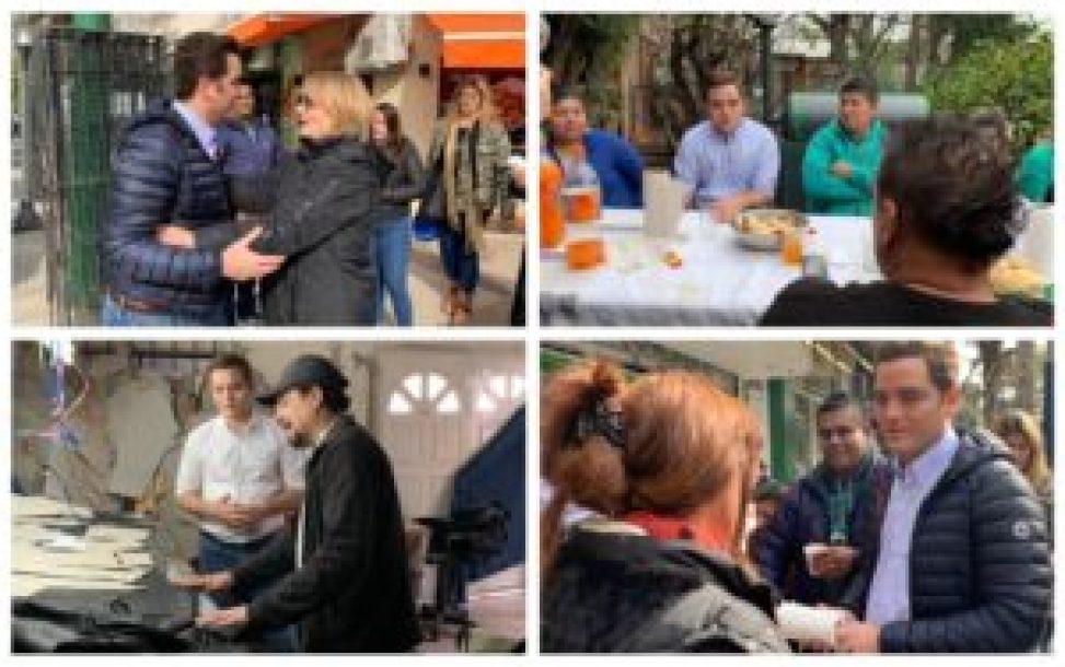 Carrizo de recorrida por los barrios, dialoga con vecinos y emprendedores del distrito