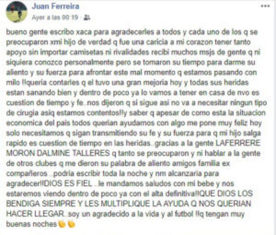Juan Ferreira Facebook