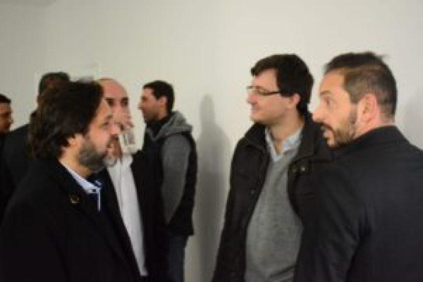 Spina, Cardoso, Ghi y Diwan durante la charla posterior al lanzamiento