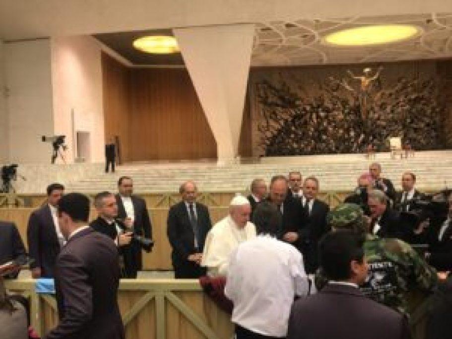 Veteranos con el Papa
