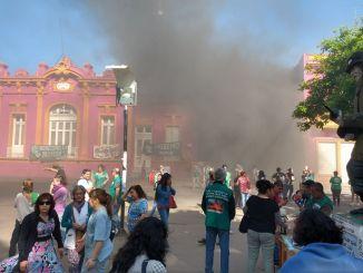 Los trabajadores municipales siguen de paro en Moreno y la comuna tiene sus servicios prácticamente paralizados