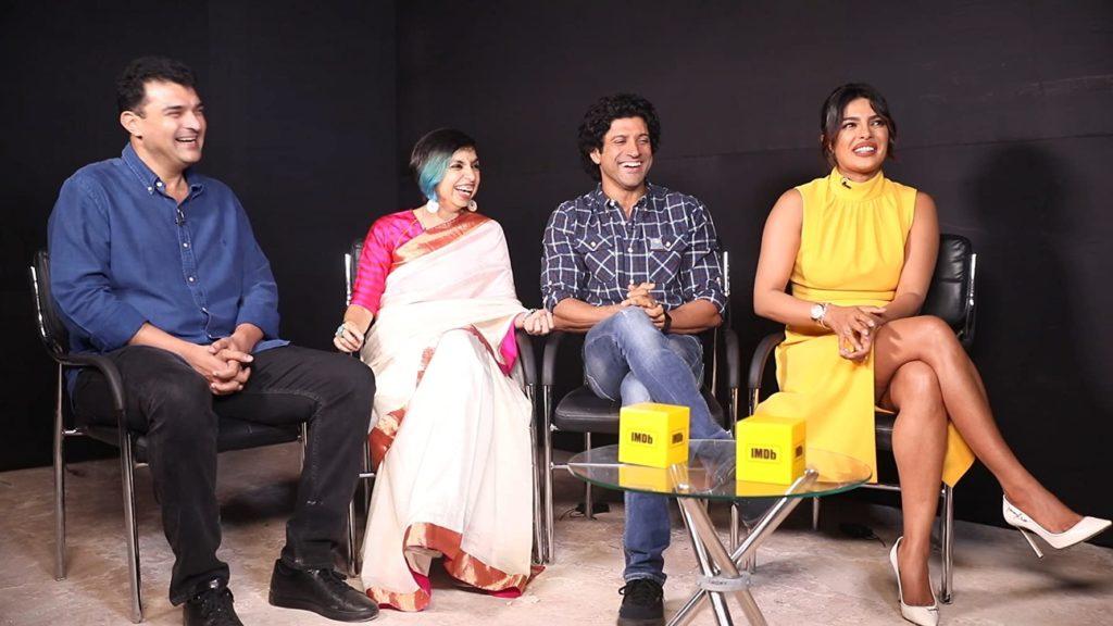 Siddharth Roy kapur with Shonali Bose, Priyanka Chopra, and Farhan Akhtar