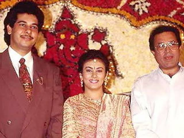 Dipika Chikhalia With His Husband And Rajesh Khanna