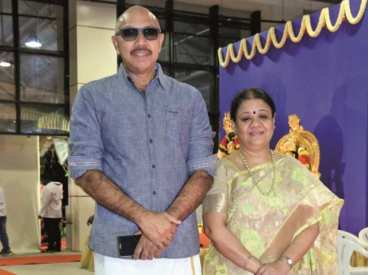 Sathyaraj With HIs Wife