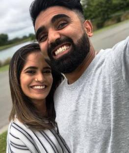 Ajaz Patel With His Wife