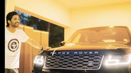 Allu Arjun With His Car