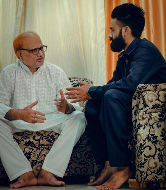 Amir Siddiqui With His Father
