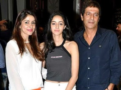Ananya Panday With Her Father And Mother