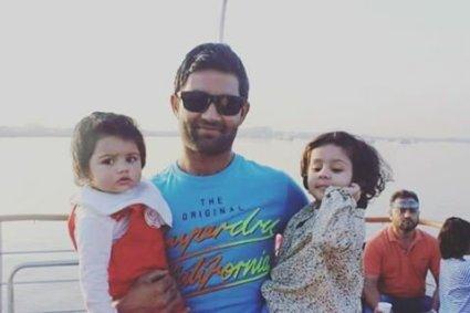 Asad Shafiq With His Daughter