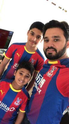 Azhar Ali With His Son