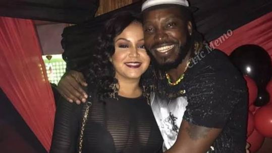 Chris Gayle With His Wife