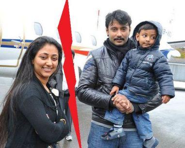 Darshan ThoogudeepWith His Son